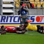 Crusaders wing Sevu Reece scores