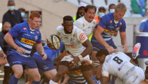 Siya Kolisi of the Sharks during the 2021 Rainbow Cup SA game between the Stormers and the Sharks at Cape Town Stadium on 1 May 2021 © Ryan Wilkisky/BackpagePix