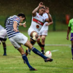 Pretoria, SOUTH AFRICA - March 25: James Tedder, from UCT IKEYS during the Varsity Cup Rugby match between FNB Tuks and FNB UCT IKEYS on March 25, 2019 at Tuks Stadium in Pretoria, South Africa. #VarsityRugby